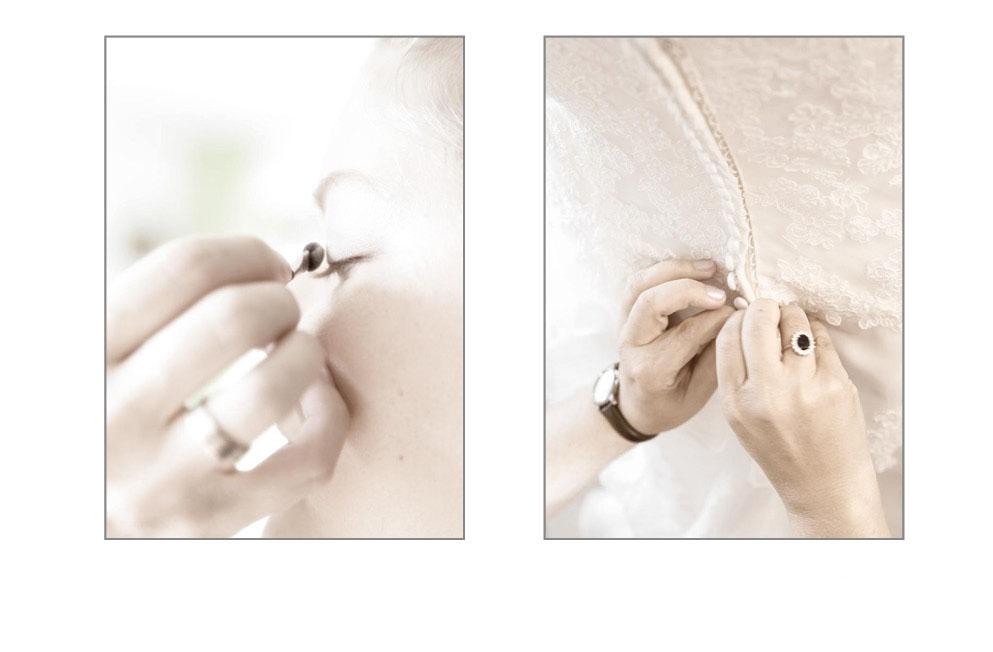 Hochzeitsvorbereitungen der Braut
